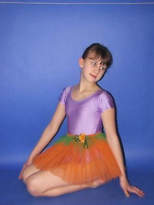 Ballett Blume (Röckchen Rock Tüll Ballett Fasching verkleiden Blume Mädchen Blumenmädchen)