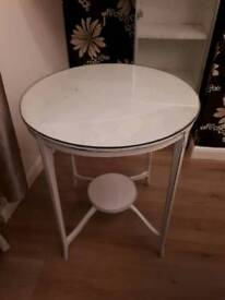 Shabby Chic Circular Cream Table