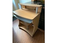 Desk with pullout keyboard tray