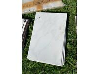White Marble Effect Wall Tiles 20cm by 30cm 1.9m2