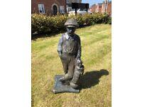 Golfer Garden Stone Statue