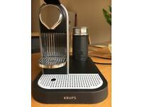 Nespresso Citiz and Milk Krups coffee maker with designer cup set
