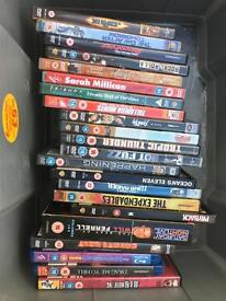 22 mixed DVD and Bluerays