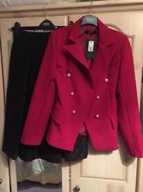 Blazer Style Jacket & Black Velvet Skirt - New/Unworn (Can Be Bought Separately)