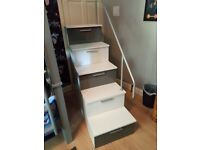 Bunk bed stairs with storage