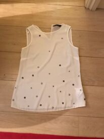 White size 8 Dorthy Perkins top