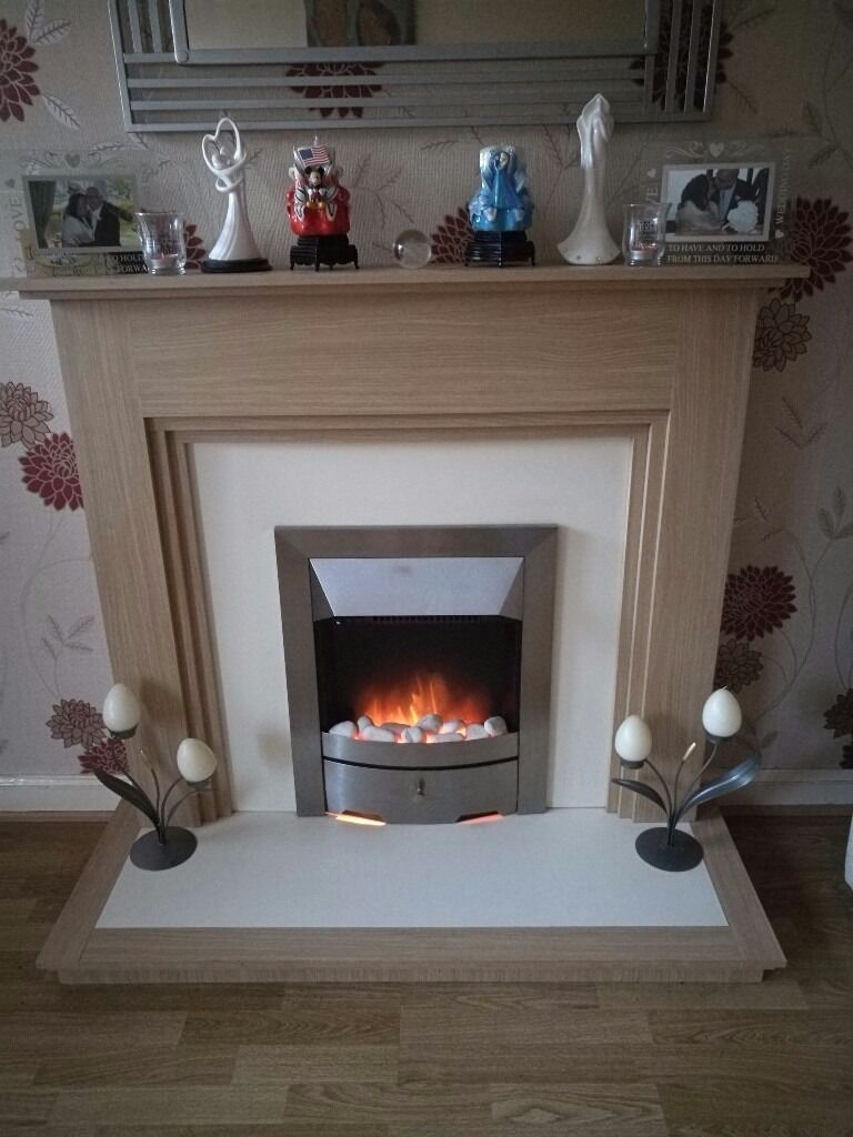 Fireplace with electric firein Cumbernauld, GlasgowGumtree - Fireplace with electric fire, in good condition buyer can pick up only