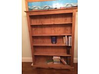 SOLID WOOD BOOKCASE WITH ADJUSTABLE SHELVES