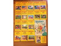 Rupert Little Bear Library books and Rupert The Daily Express Annual No 55 from 1990