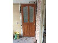 Wooden decorative glass doors