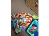 11 Harry and the Bucketful of Dinosaurs books and bag