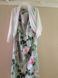 Phase Eight Dress and Roman white sheer shawl, worn once for a wedding