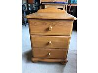 Pine bed side cabinet
