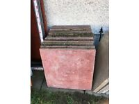 2x2 46 Quality Pink Concrete Flag Stones Paving Slabs Paves Garden Builder Shed Patio Landlords