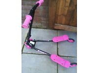 Pink Fliker Scooter Practically New Age 6+