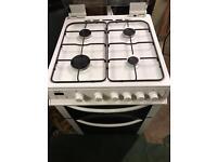 Bush white gas cooker 60cm