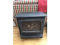 Cast iron free standing gas fire
