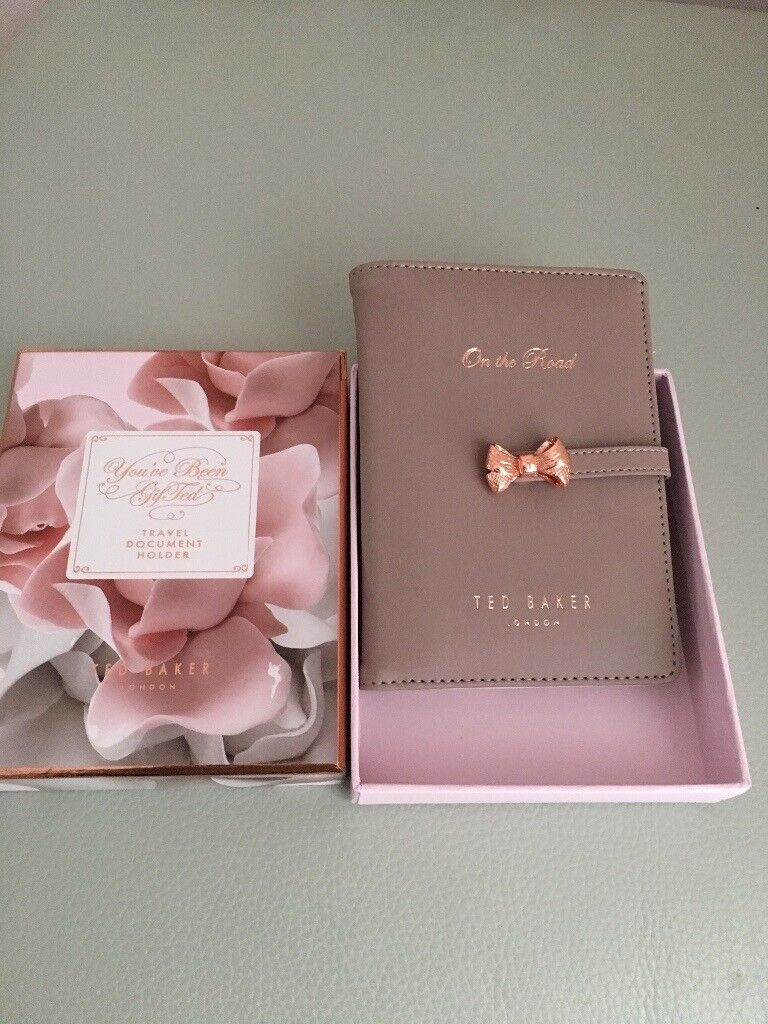 Ted Baker Passport Holder with box