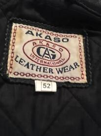 Motorbike leather jacket and trousers