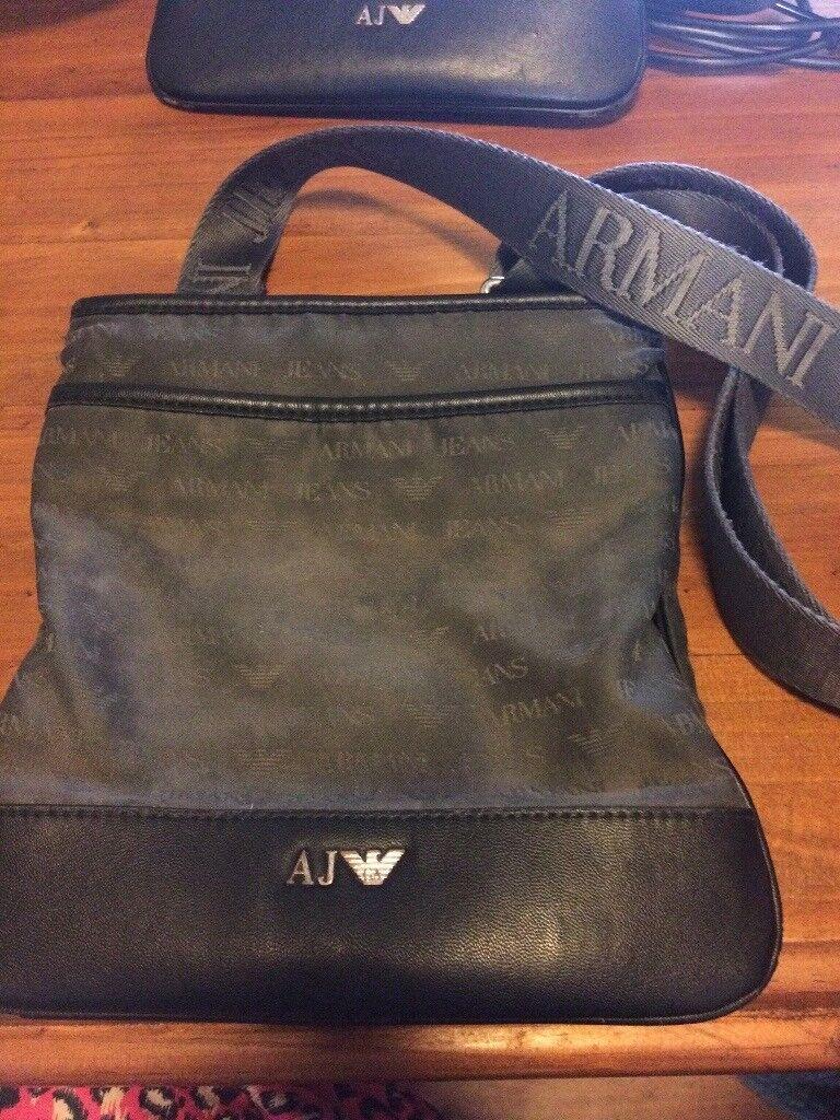 Genuine Armani pouch grey in colour