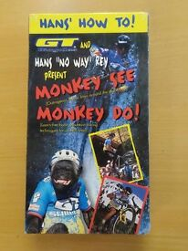 GT RETRO VHS MONKEY SEE..MONKEY DO VIDEO..NEW IN PACKAGING..