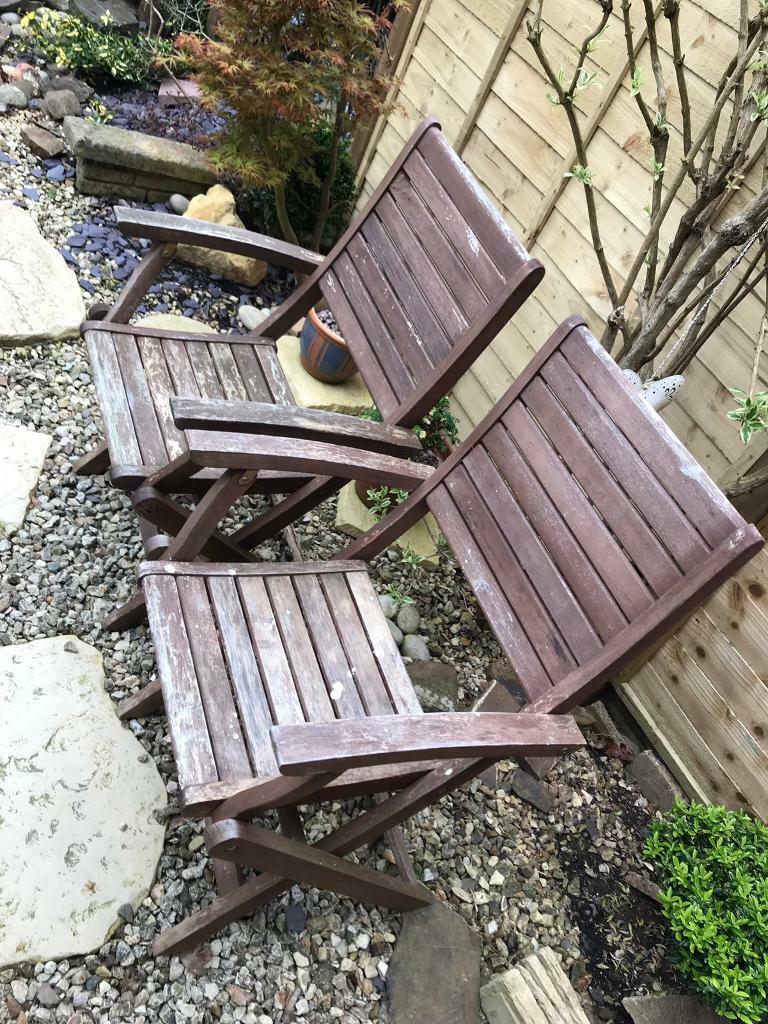 Wooden garden chairs | in Exeter, Devon | Gumtree