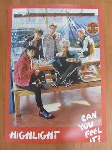 HIGHLIGHT - Can You Feel It? (Ver. B) [OFFICIAL] POSTER K-POP *NEW* B2ST BEAST