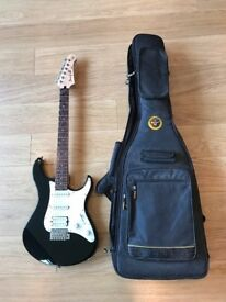 Yamaha Pacifica electric guitar (with Warwick Rockbag soft case)