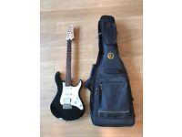 Yamaha Pacifica electric guitar (with Warwick Rockbag soft case)