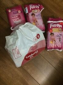 Huggies Pull Ups Girls Size 6 / L 16-23 kg - 44 diapers