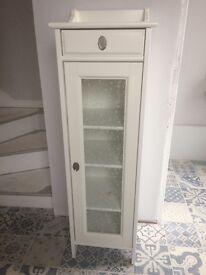 White bathroom cabinet tallboy