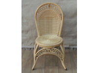 Strong wicker chair with high back (Delivery)