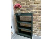 Chalk painted bookcase