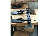 Pair of adjustable gate hinges