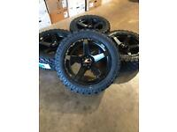 """Brand new set of 20"""" alloy wheels and all terrain tyres Ford Ranger Mitsubishi L200 Shogun"""