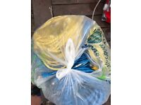 Large bag of various Cat5 network cables half grey half colour various lengths, used but should work