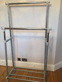 Clothing rail with shoe storage