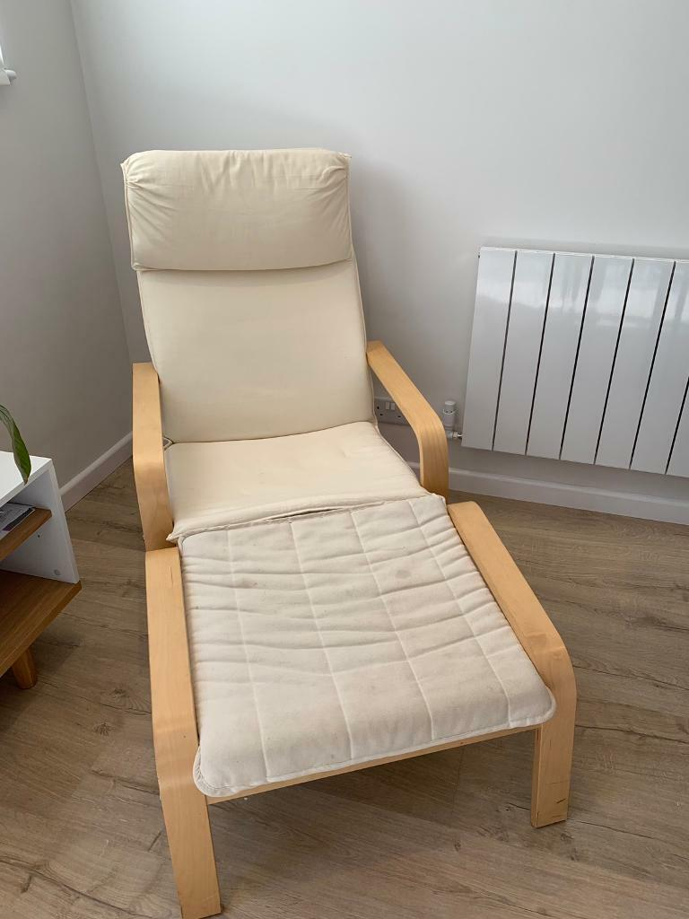 Ikea Pello Chair & Poang Footstool | in Clapham, London ...
