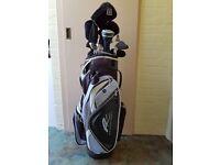 Ladies Lynx Tigress Golf Clubs and Powercaddy Bag