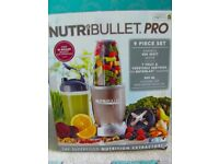 Brand new boxed Nutribullet Pro 900w juicer, 9 piece set, rrp £129.99