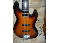 SQUIER BY FENDER 5 STRING ACTIVE JAZZ BASS GUITAR-postage and offer may be possible