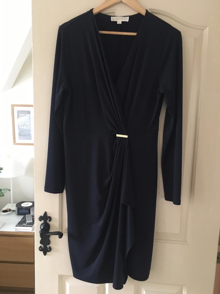 Michael Kors, Navy, Size large, wrap dress