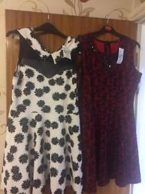 3 dresses and 1 top, all brand new with labels, £40 or else £10 each, size 16, Medium & Large.