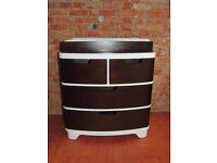 Chocolate and white chest of drawers (Delivery)
