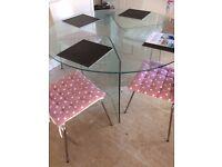 Circular Glass Table