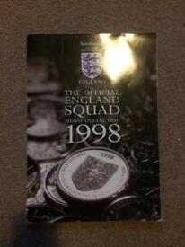 1998 England squad medal collection
