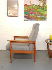 Mid Century Reupholstered Retro Armchair by Guy Rogers