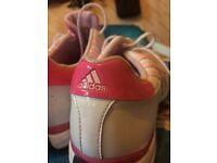 Ladies adidas pink golf shoes