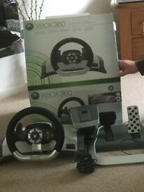 Xbox 360 wireless racing wheel (x2)