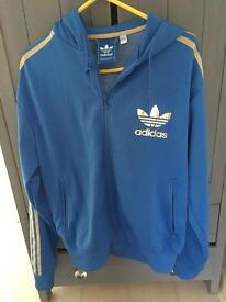 Adidas classic hoodie rare Gold and Blue